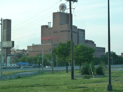 The Budweiser Brewery next to Newark Airport