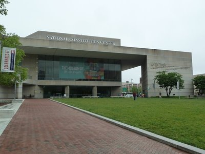 The National Constitution Center in Independence Park Philadelphia