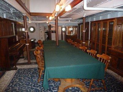 The Ward Room aboard the USS Olympia