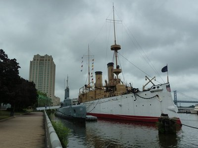 The USS Becuna and USS Olympia at the Independence Seaport Museum