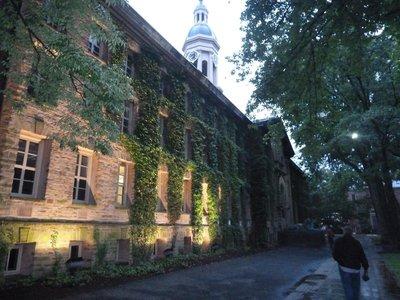 Nassau Hall, the oldest building at Princeton University (built 1756)