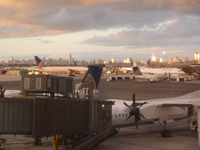 My last view of New York from Newark International Airport before my flight back to London
