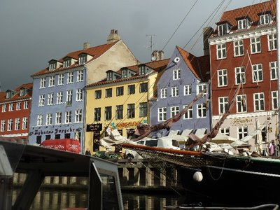 Colourful old houses on the north side of Nyhavn