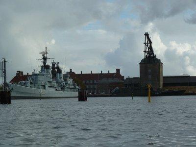 Mastekranen and Warship at the Holmen Naval Base