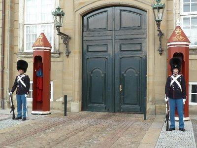 Standing Guard outside the Amalienborg Palace