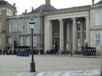 Changing the Guard at the Amalienborg Palace