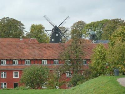 Windmill overlooking the barracks of the Kastellet