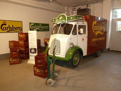 Old Carlsberg Austin Van on display in the Carlsberg Stables