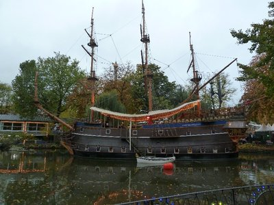 The Pirate Ship on the Lake at Tivoli