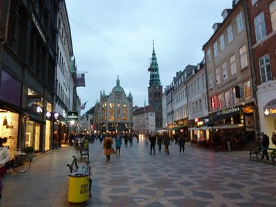 Copenhagen's Stroget, it's main pedestrianised shopping street