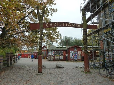 The entrance to Christiana, Copenhagen's hippy community