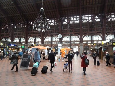 The main concourse of Copenhagen Central Station