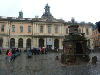 The Nobel Museum in the old Swedish Stock Exchange Building in Gamla Stan