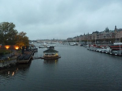 Ladugardslandsviken Bay in Central Stockholm on the way back from the Vasa