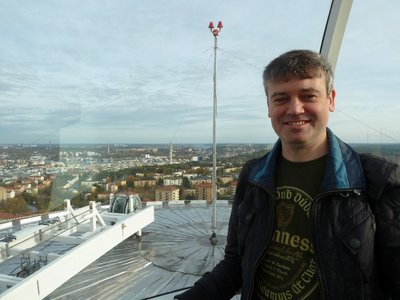 Me at the top of Skyview over looking Stockholm