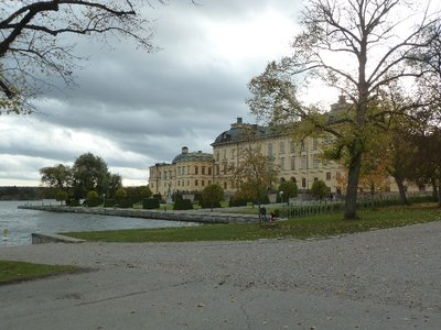 Drottningholm Palace from waterside