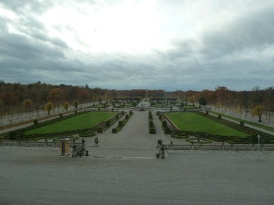 Looking out on the extensive gardens at Drottningholm Palace