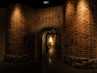 Recreation of Stockholm's Medieval City Gates inside the Museum of Medieval Stockholm