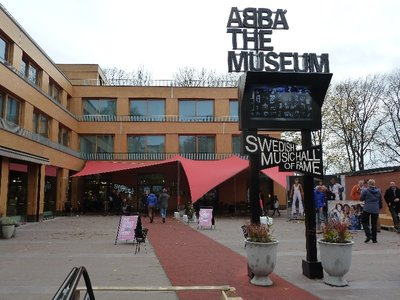 The entrance to the ABBA Museum