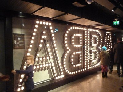 The vast ABBA sign at the start of the Museum tour