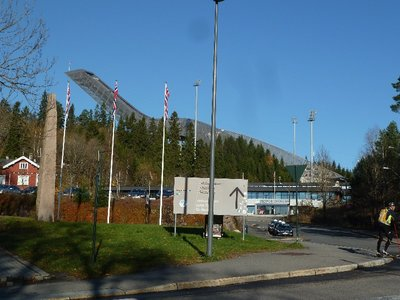The entrance to the Ski Jump and Museum high above Oslofjord at Holenkollen
