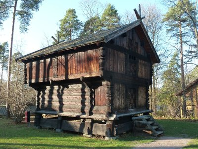 Another old wooden house at the open air Norsk Folkemuseum