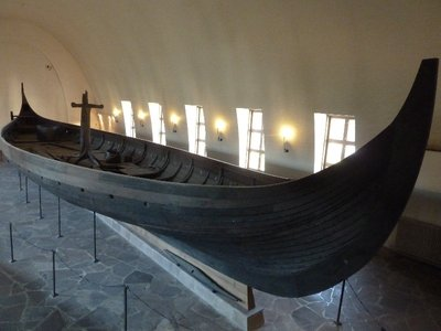 The Gokstad Ship built around 890 and solid enough to sail across the open sea, the largest of the museum's 3 Viking ships