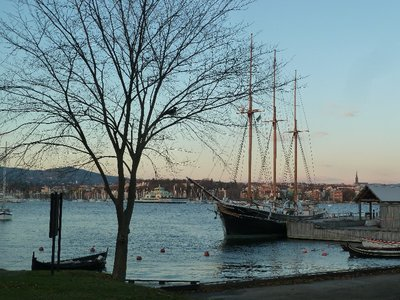 Early evening view over to Oslo from the Bygdog peninsular