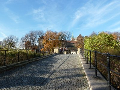 The entrance into Akerhus Festning (Akerhus Fortress - Oslo's Castle)