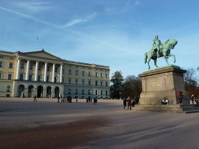 King Karl Johan's Statue in front of the Slottet (Royal Palace)