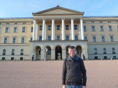 Me in front of the Slottet (Royal Palace)