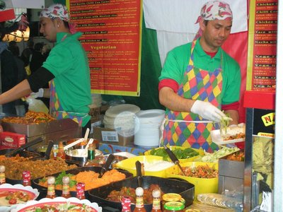 Brick Lane in East London - Street Food