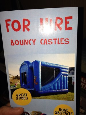 Even their bouncy houses are castles
