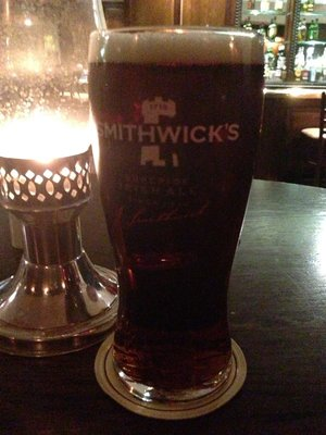 Smithwick's at hotel bar