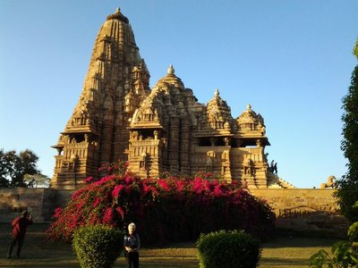 World heritage temple in Khajuraho