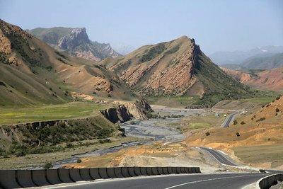 The Pamir Highway between Osh and Sary Tash, Kyrgyzstan.