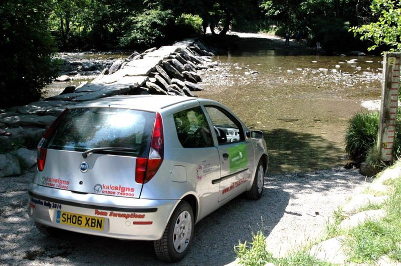 Fiat Punto at Tarr Steps