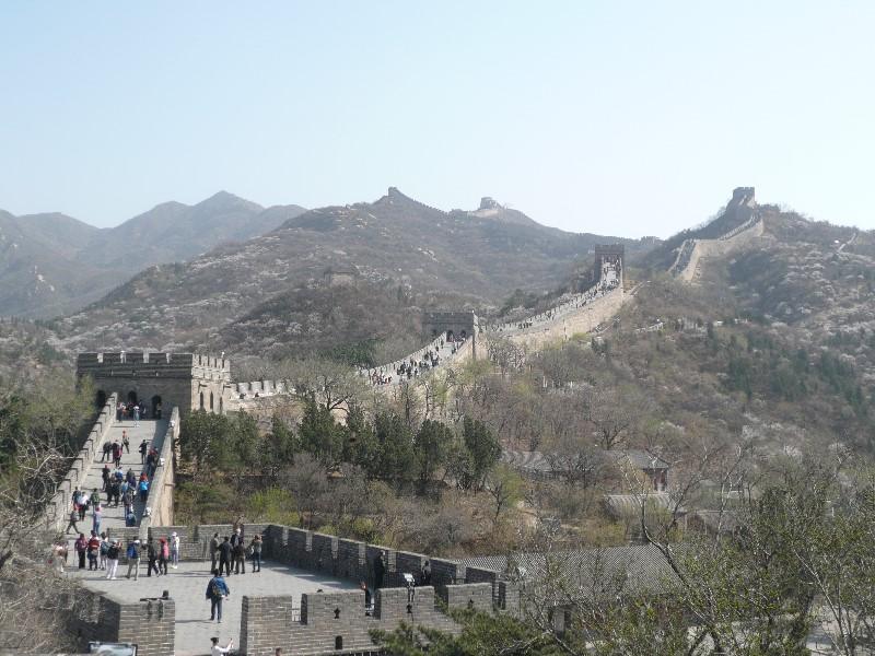 Chinese muur nabij Beijing