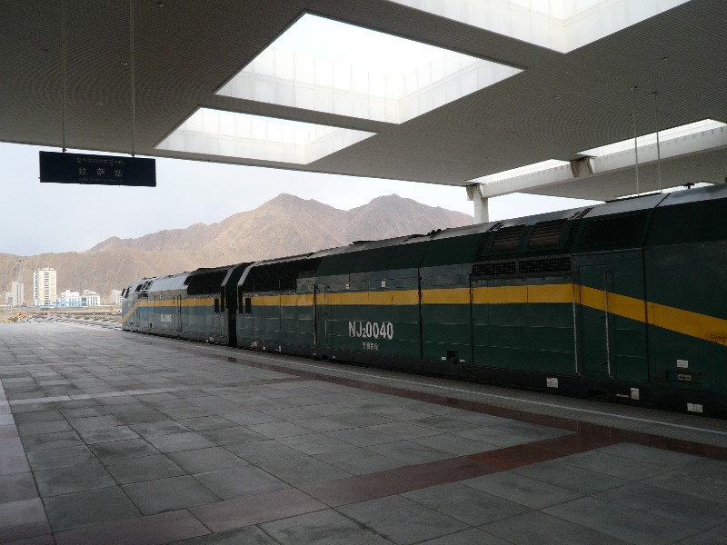 Treinstel naar Lhasa