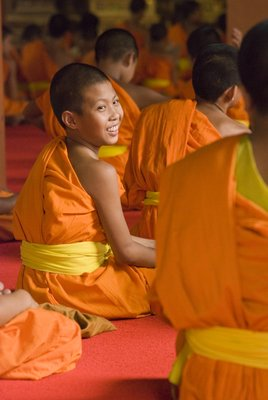 Laughing boy monk