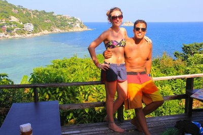 Diego and Abi in Koh Tao