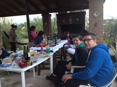 A family Easter