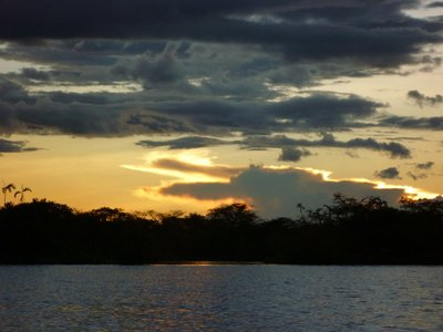 """beautiful Amazon sunset"""