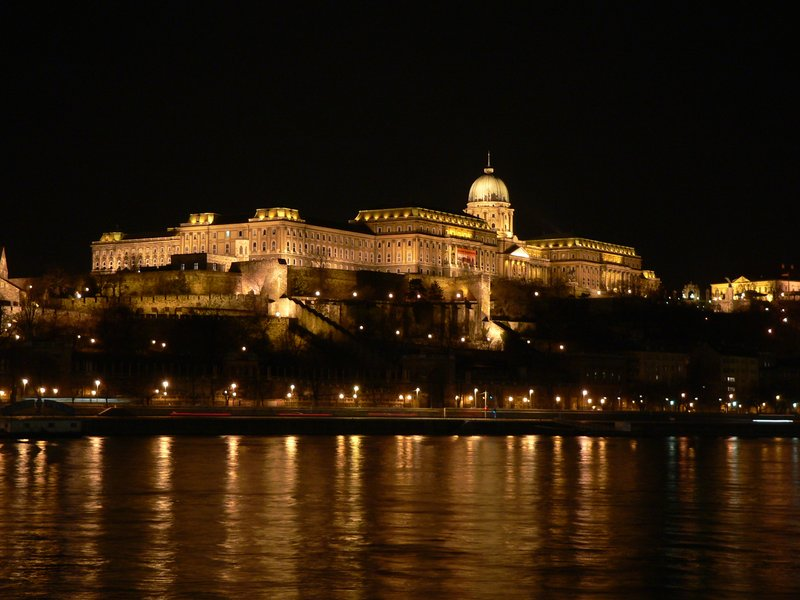 Budapest Castle by night