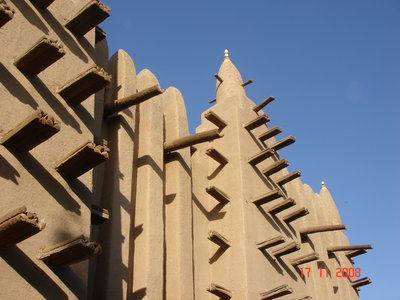 Minar of Clay Mosque of Mopti