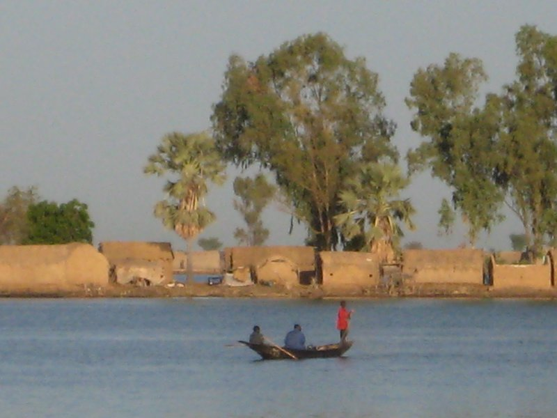 Niger River in Mopti, Mali