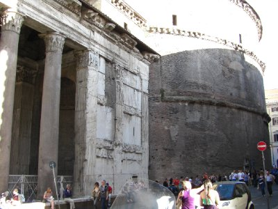 The exterior of the Pantheon