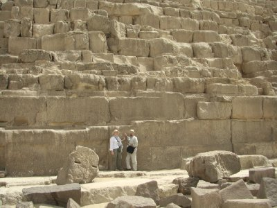 Dwarfed by the Great Pyramid