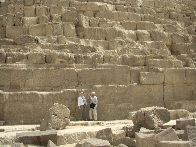 Dwarfed by the Great Pyramid
