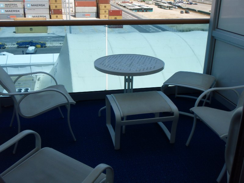 A Caribe Deck balcony on the Star Princess
